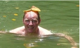 Richard Baker swimming