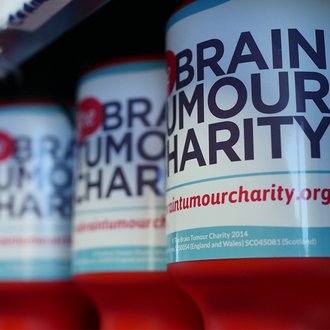 The Brain Tumour Charity collection tins