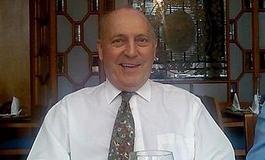 John Tainton at a restaurant