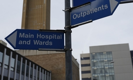 Hospital sign to wards