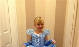 Jessica Green dressed up as Cinderella