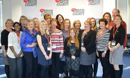 The Brain Tumour Charity team and Supporter Group members