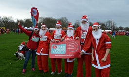 A group of supporters at the Santa Run in Christmas fancy dress