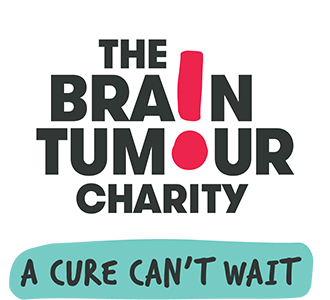 The Brain Tumour Charity official logo, in white